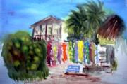 Honduras Painting Framed Prints - West End Market Framed Print by Donna Walsh