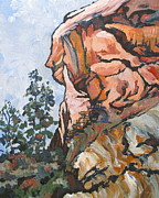 Sedona Painting Prints - West Fork 2 Print by Sandy Tracey