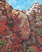 Sedona Paintings - West Fork by Sandy Tracey