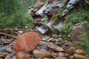 West Fork Photos - West Fork Trail River and Rock Horizontal by Heather Kirk
