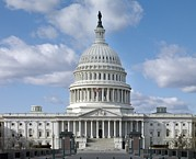 Cities Photos - West Front Of The United States Capitol by Everett