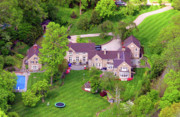 Residential Real Estate Aerial Photographs - West Hartwell Lane Chestnut Hill Philadelphia by Duncan Pearson