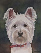 Nursery Room Art Prints Paintings - West Highland Terrier Dog by Teresa Silvestri