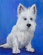 Westie Terrier Paintings - West Highland Terrier by Robin Wiesneth