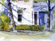 Historic Architecture Paintings - West Main House by Kent Brewer