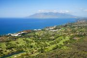 Manicured Prints - West Maui Aerial View Print by Ron Dahlquist - Printscapes