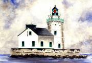 West Pierhead Lighthouse Print by Michael Vigliotti