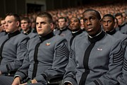 Uniforms Metal Prints - West Point Cadets Applaud President Metal Print by Everett