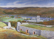 Hudson Valley Paintings - West Point From Fort Putnam  by Glen Heberling