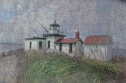 Fused Digital Art - West Point Lighthouse - Seattle by Jeff Burgess