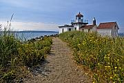 Puget Sound Posters - West Point Lighthouse Poster by Michael Gass