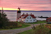 West Quoddy Head Lighthouse Framed Prints - West Quoddy Head Lighthouse Framed Print by Jack Schultz