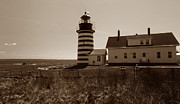 Maine Lighthouses Posters - West Quoddy Lighthouse Poster by Skip Willits