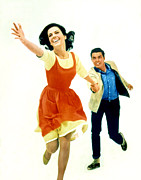 Robert Wood Framed Prints - West Side Story. Natalie Wood & Richard Framed Print by Everett