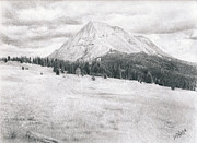 Photo Realism Drawings - West Spanish Peak by Joshua Martin