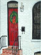 John Schuller Paintings - West Street Christmas by John Schuller