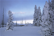 Snow Scenes Metal Prints - West Thumb Geyser Basin Metal Print by Raymond Gehman