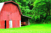 West Virginia Barn And Baler Print by Thomas R Fletcher
