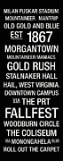Hall Photo Posters - West Virginia College Town Wall Art Poster by Replay Photos