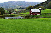 Board Fence Prints - West Virginia Red Barn Print by Thomas R Fletcher