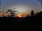Sky Mountaintops Posters - West Virginia Sunset 1 Poster by Aimee L Maher