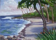 Calif. On Google Painting Originals - Western Beach by Bob Phillips