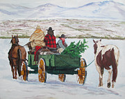 Dakota Paintings - Western Christmas by Andrew Hench