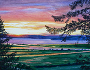 Seattle Paintings - Western Horizon by Hanne Lore Koehler