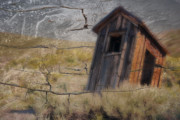 Ghost Town Outhouse Posters - Western Outhouse Poster by Ron Hoggard