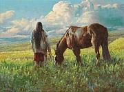 Lakota Paintings - Western Skies by Jim Clements