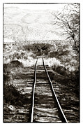 Contemporary Western Fine Art Framed Prints - Western Tracks Framed Print by John Rizzuto
