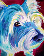 Dawgart Framed Prints - Westie - That Look Framed Print by Alicia VanNoy Call