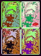 Domestic Pets Mixed Media - Westie Craz by Tisha McGee