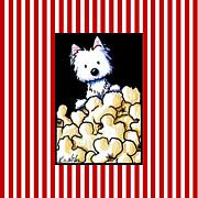 Westie Popcorn Lover Print by Kim Niles