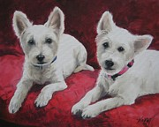 Pet Dog Originals - Westies by Jindra Noewi