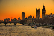 Horizontal Art - Westminster & Big Ben London by Photos By Steve Horsley