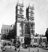 Carriages Posters - Westminster Abbey - London England - c 1909 Poster by International  Images