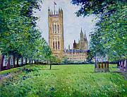 Enver Larney Art - Westminster Abbey from Abbey grounds London England 2003  by Enver Larney