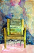Bible Drawings Metal Prints - Westminster Abbey Queen Chair Metal Print by Mindy Newman