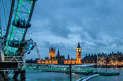 Big Ben Posters - Westminster and The London Eye Poster by Dawn OConnor