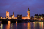 Big Ben Posters - Westminster at Sundown Poster by Shawn Everhart