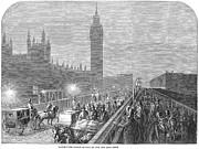 Streetlight Photos - Westminster Bridge, 1860 by Granger