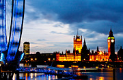 London Cityscape Art - Westminster by Dawn OConnor