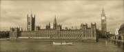Westminster Palace Photos - Westminster Palace and Big Ben by Heidi Hermes