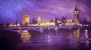 London England  Pastels - Westminster Purple by Paul Mitchell