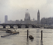 Reflecting Water Prints - Westminster Print by Tom Young