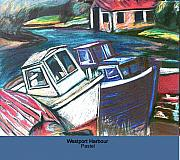 House Pastels - Westport Harbour by Ellen Lefrak