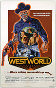 Classic Sf Posters Framed Prints - Westworld, Yul Brynner, James Brolin Framed Print by Everett