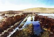 Reservoir Painting Acrylic Prints - Wet lane Cupwith Reservoir Acrylic Print by Paul Dene Marlor
