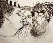 Drunken Drawings - Wet spot on his shoulder by Emily Jones